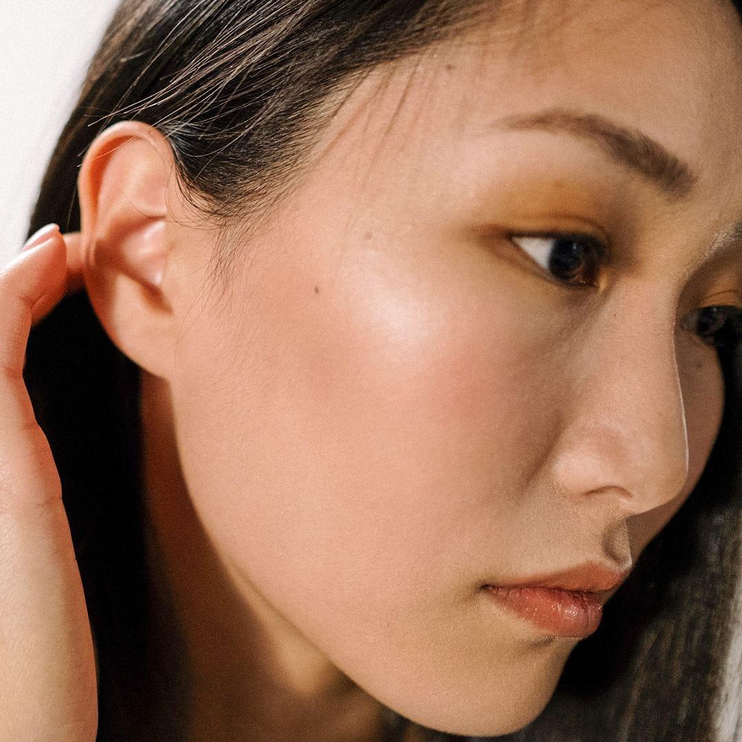 womans clean face