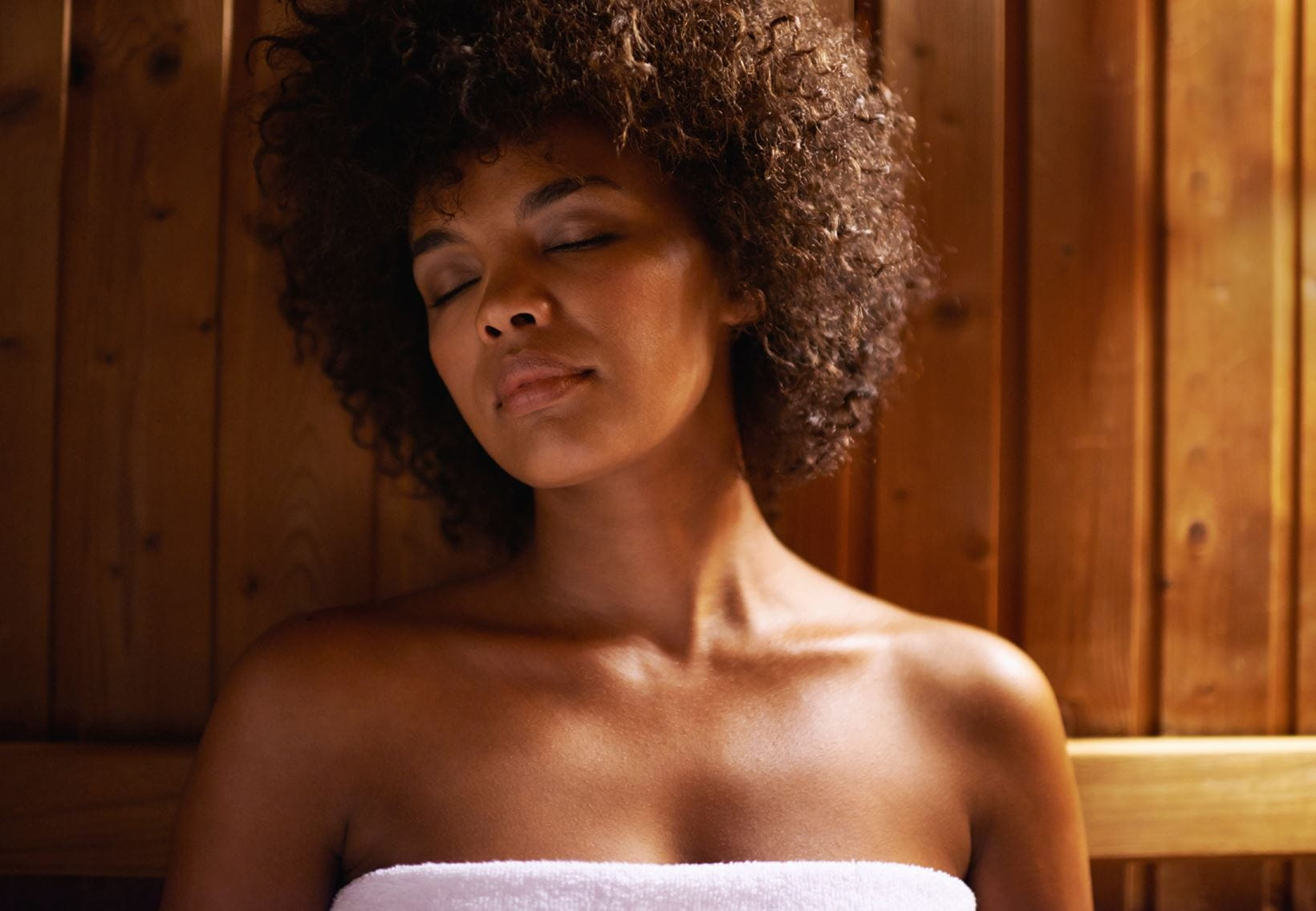 woman in sauna excessive sweating