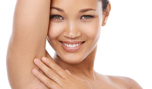 woman excessive sweating