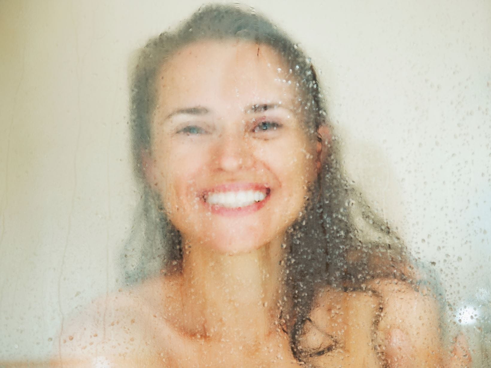 lady happy knowing how to shower