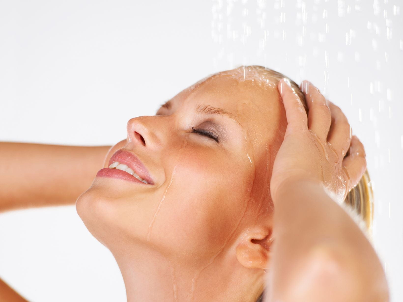 lady learning how to shower properly